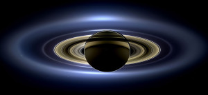 Saturn in eclipse, as imaged by Cassini ISS. Image credit: NASA / JPL-Caltech / Space Science Institute.)